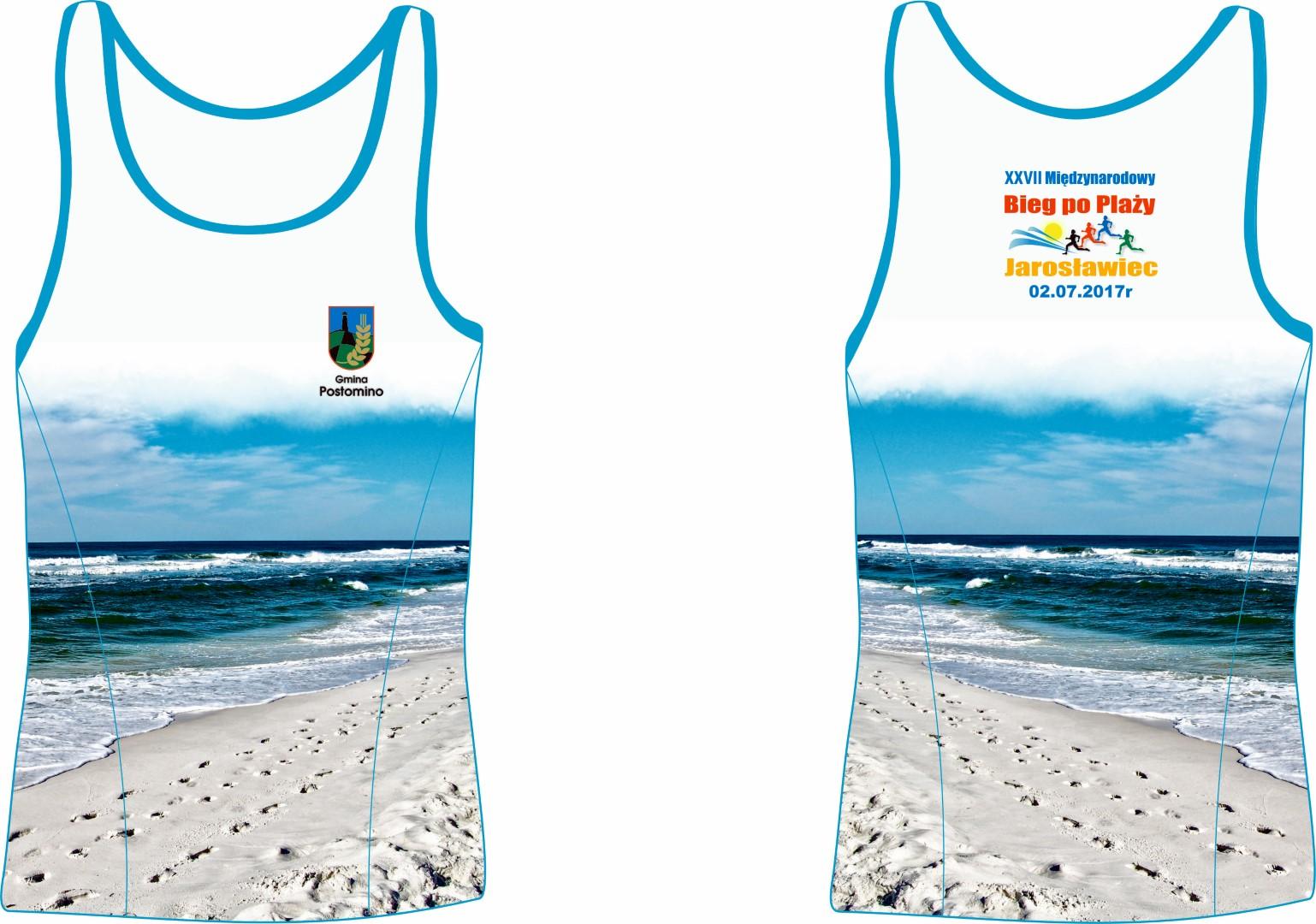 Bieg po plaży koszulka
